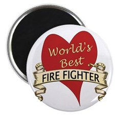 Funny World's greatest fire fighter Magnet