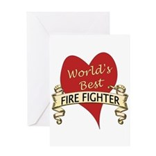 Funny World's greatest fire fighter Greeting Card