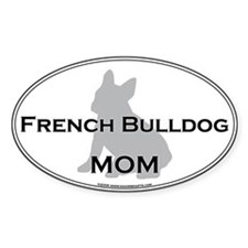 French Bulldog MOM Oval Decal