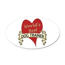 Cute World Oval Car Magnet