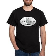 French Bulldog MOM Black T-Shirt