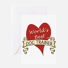 Cute Dog trainer Greeting Card
