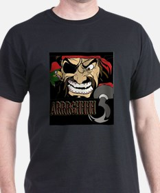 Pirate Says AARRGG Black T-Shirt