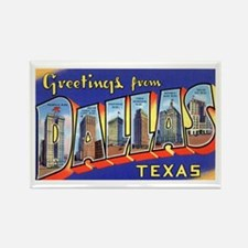 Dallas Texas Greetings Rectangle Magnet (10 pack)