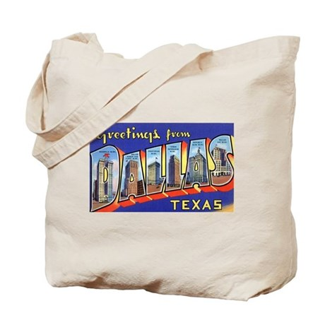 Dallas Texas Greetings Tote Bag