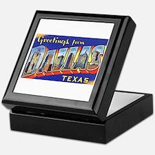 Dallas Texas Greetings Keepsake Box