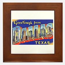 Dallas Texas Greetings Framed Tile