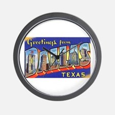 Dallas Texas Greetings Wall Clock