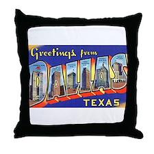 Dallas Texas Greetings Throw Pillow