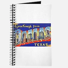 Dallas Texas Greetings Journal