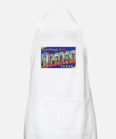 Dallas Texas Greetings BBQ Apron