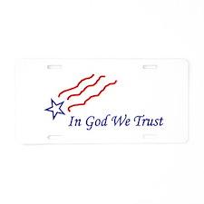 In God star Aluminum License Plate