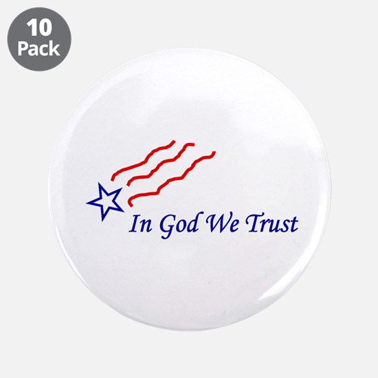 """In God star 3.5"""" Button (10 pack)"""