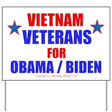 VIETNAM VETERANS FOR OBAMA Yard Sign