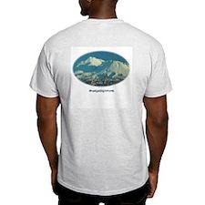 Ash Grey T-Shirt - Mt. Shasta on the back