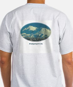 Ash Grey T-Shirt - Mt. Shasta on the back