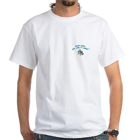 White T-Shirt - Mt. Shasta on the back