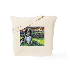 English springer spaniel sunset Tote Bag