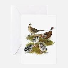 Pheasant Family Greeting Card