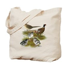 Pheasant Family Tote Bag
