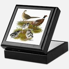 Pheasant Family Keepsake Box