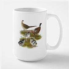 Pheasant Family Large Mug
