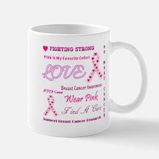 Breast Cancer Collage Mug