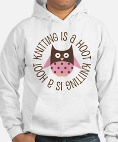 Knitting Is A Hoot Gift Hoodie