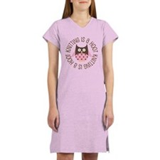 Knitting Is A Hoot Gift Women's Nightshirt