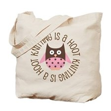 Knitting Is A Hoot Gift Tote Bag