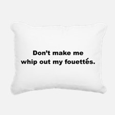 Fouettes Rectangular Canvas Pillow