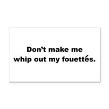 Fouettes Rectangle Car Magnet