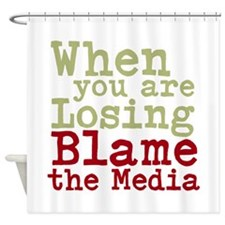 blame the media Shower Curtain