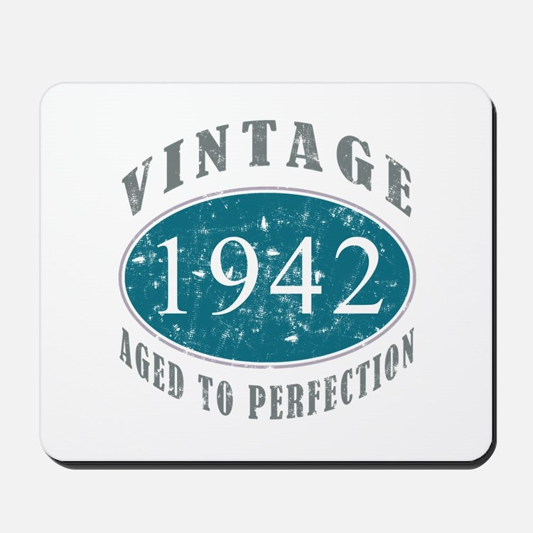 1942 Vintage Blue Mousepad