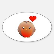 Cute bird Sticker (Oval)