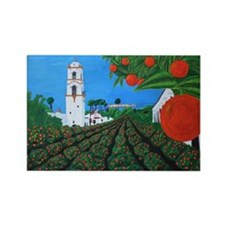 Parade of Oranges Rectangle Magnet