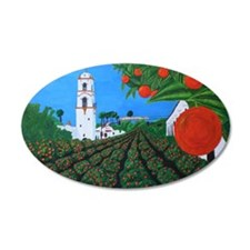 Parade of Oranges Wall Decal