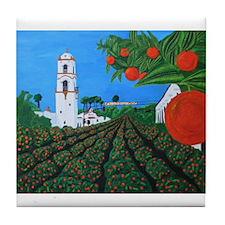Parade of Oranges Tile Coaster