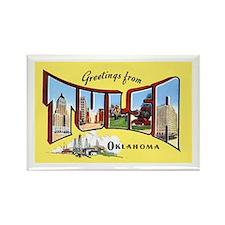 Tulsa Oklahoma Greetings Rectangle Magnet