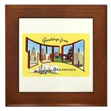 Tulsa Oklahoma Greetings Framed Tile