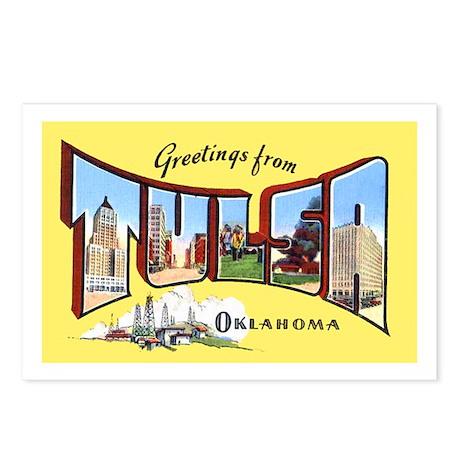 Tulsa Oklahoma Greetings Postcards (Package of 8)