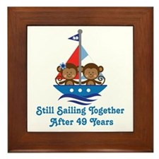 49th Anniversary Sailing Framed Tile