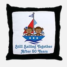 50th Anniversary Sailing Throw Pillow