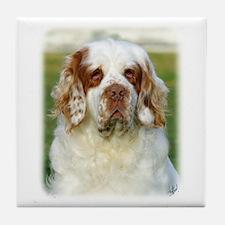Clumber Spaniel AF015D-125 Tile Coaster