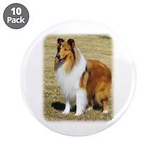 """Collie Rough AF036D-028 3.5"""" Button (10 pack)"""