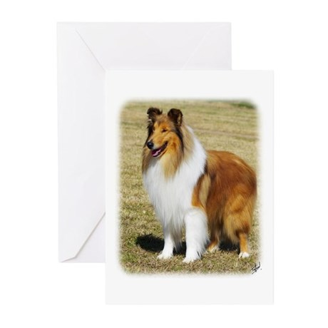 Collie Rough AF036D-028 Greeting Cards (Pk of 20)