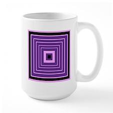 Fun Pink, Purple, and Black Abstract Mug