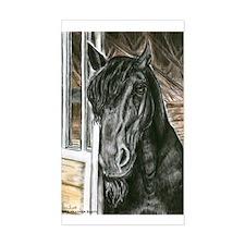 Frieisian Stallion Rectangle Decal