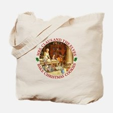 Mrs. Claus & the Elves Bake Christmas Cookies Tote