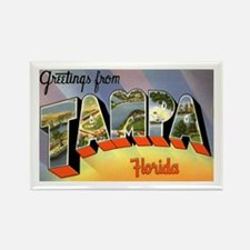 Tampa Florida Greetings Rectangle Magnet